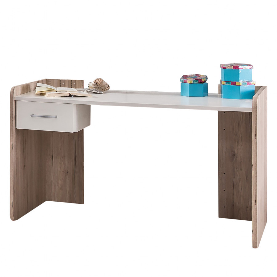 Schreibtisch lenny eiche sanremo dekor alpinwei home24 for Schreibtisch eiche dekor