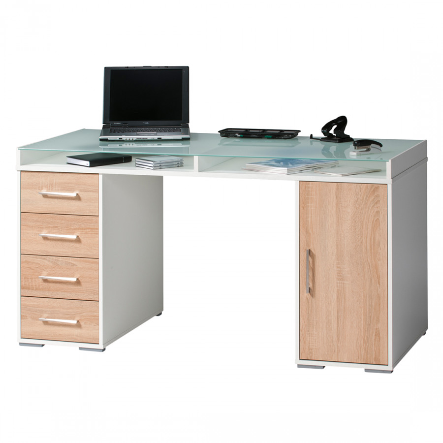 Home24office computertisch f r ein modernes heim home24 for Schreibtisch mit glasplatte