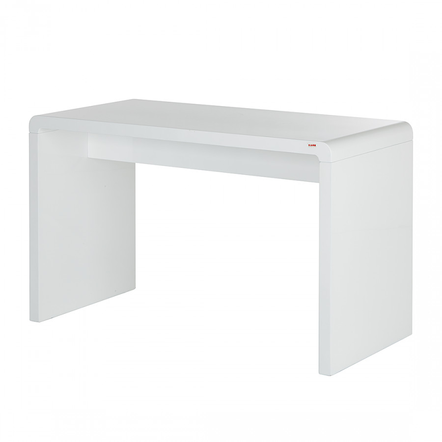Bureau white club largeur 125 x 60 cm for Bureau faible largeur