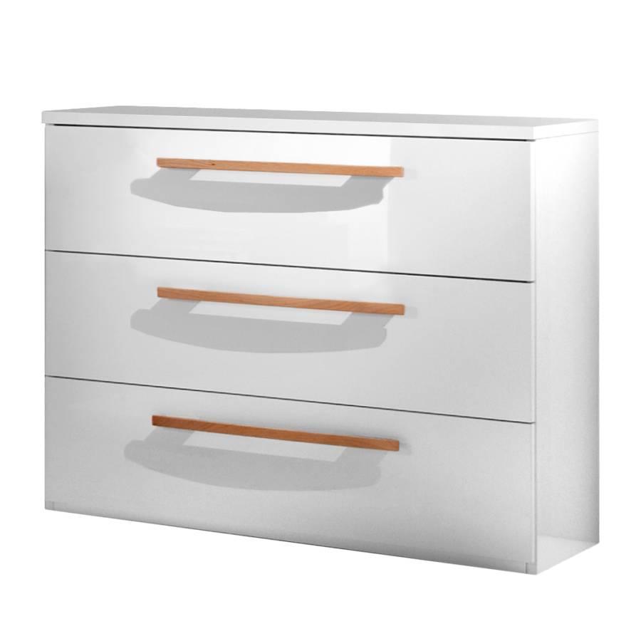 schubladenkommode comos i hochglanz wei home24. Black Bedroom Furniture Sets. Home Design Ideas