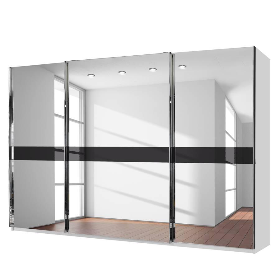 armoire portes coulissantes bayamo blanc alpin miroir en verre cristal. Black Bedroom Furniture Sets. Home Design Ideas