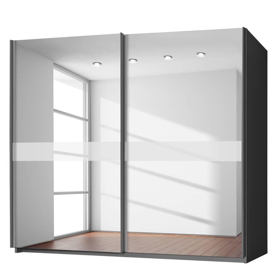 Armoire portes coulissantes bayamo couleur graphite for Armoire portes coulissantes miroir