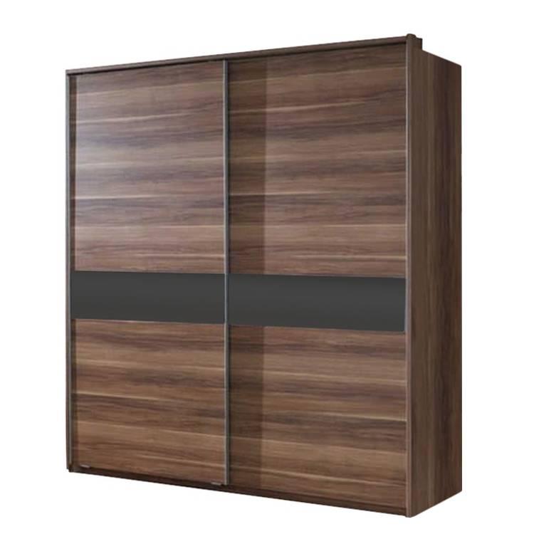 schwebet renschrank vigo franz sisch nussbaum glas schwarz home24. Black Bedroom Furniture Sets. Home Design Ideas
