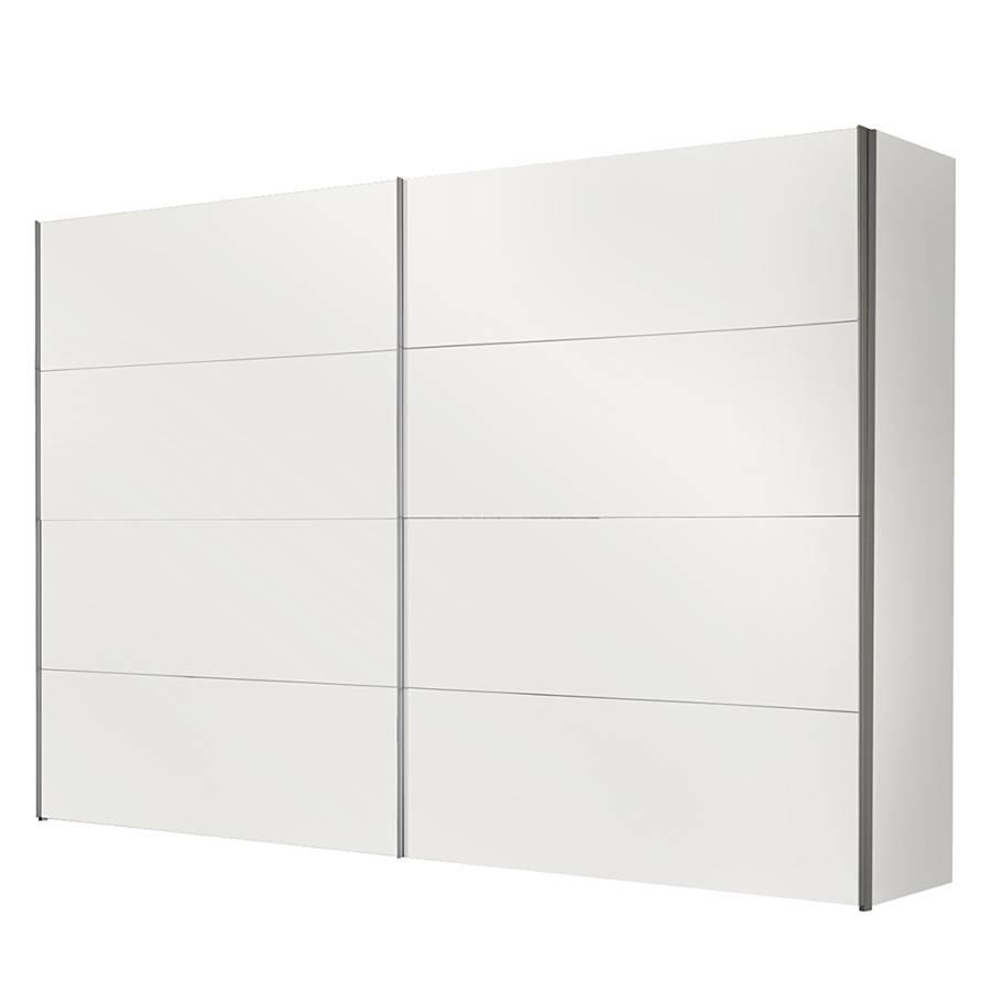 Armoire portes coulissantes portiers blanc polaire - Armoire 150 cm portes coulissantes ...