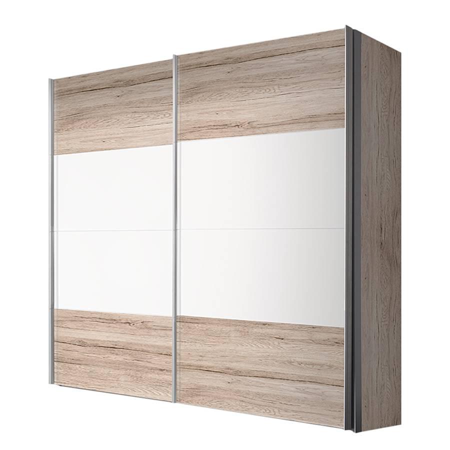 armoire portes coulissantes portiers imitation ch ne de san remo blanc polaire. Black Bedroom Furniture Sets. Home Design Ideas