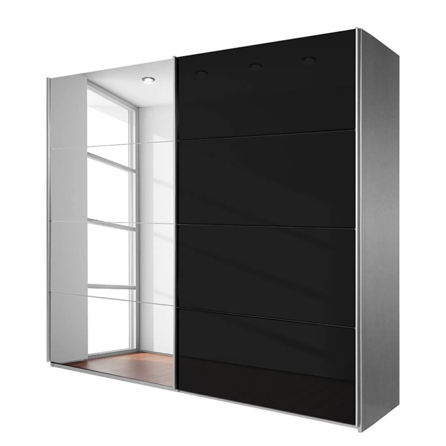 Armoire portes coulissantes noir quadra bon prix for Chambre quadra