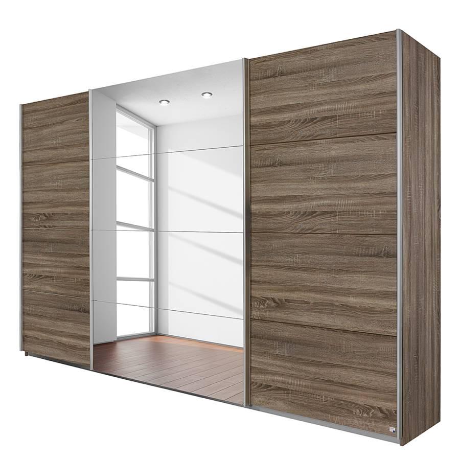 schwebet renschrank quadra mit spiegel eiche havanna dekor home24. Black Bedroom Furniture Sets. Home Design Ideas