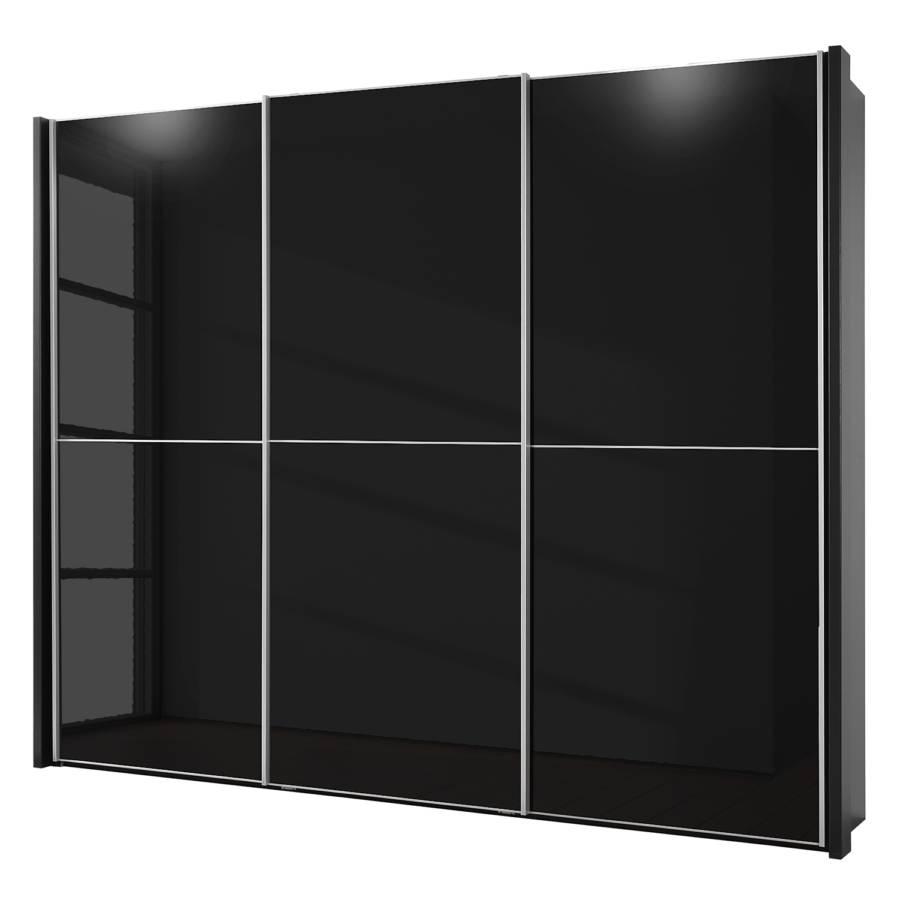 armoire portes coulissantes rimini verre noir. Black Bedroom Furniture Sets. Home Design Ideas