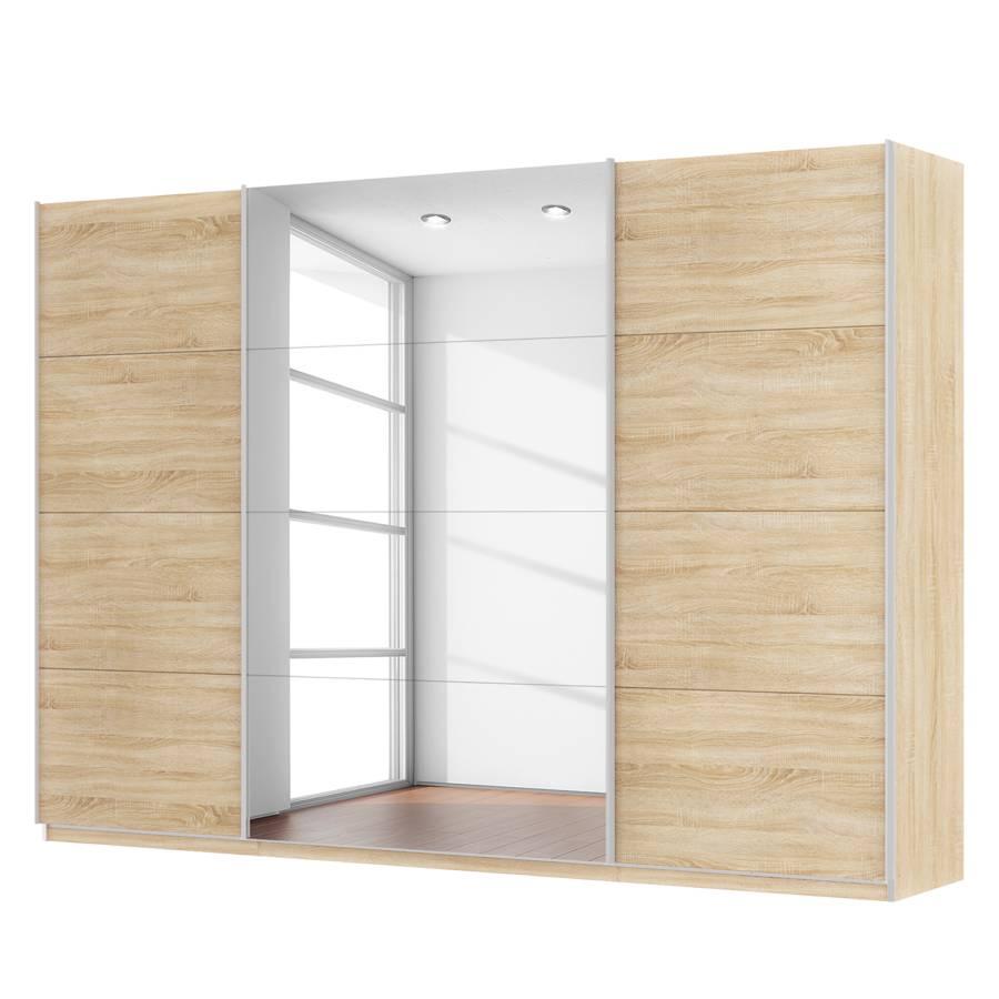 Armoire portes coulissantes sk p imitation ch ne de for Armoire 3 portes coulissantes miroir