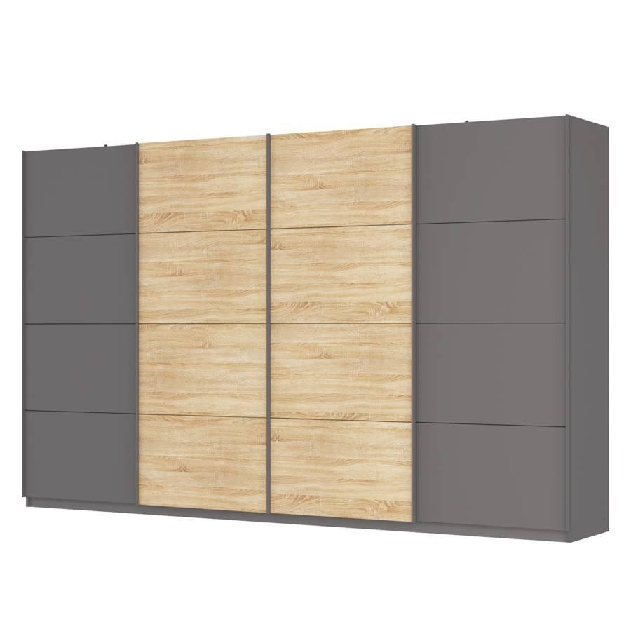 armoire portes coulissantes sk p gris graphite imitation ch ne de sonoma. Black Bedroom Furniture Sets. Home Design Ideas