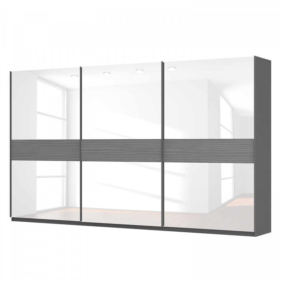schwebet renschrank sk p graphit glas wei. Black Bedroom Furniture Sets. Home Design Ideas