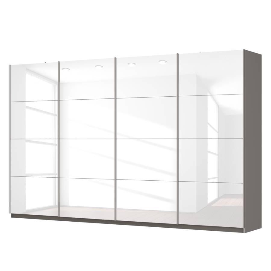 armoire portes coulissantes sk p blanc brillant graphite. Black Bedroom Furniture Sets. Home Design Ideas