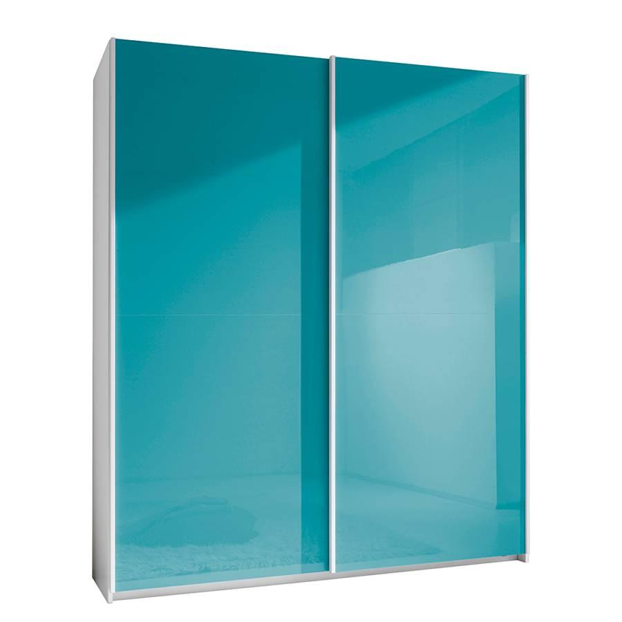Armoire portes coulissantes smart turquoise brillant for Armoire 100 cm porte coulissante