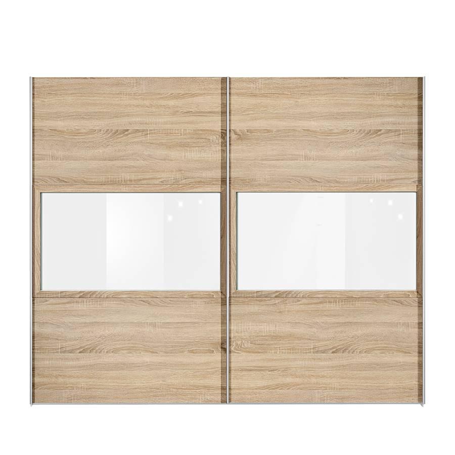 schwebet renschrank trio eiche dekor glas reinwei home24. Black Bedroom Furniture Sets. Home Design Ideas