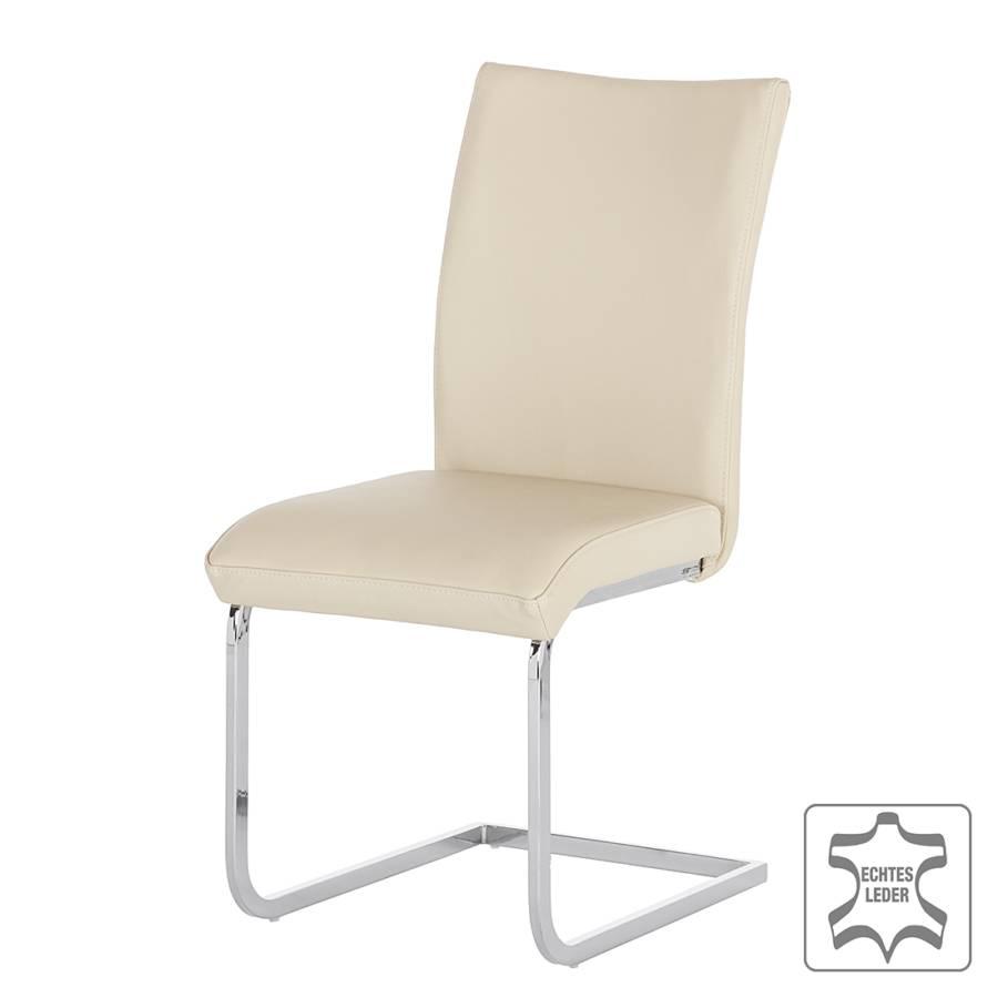 schwingstuhl osiris 2er set echtleder creme home24. Black Bedroom Furniture Sets. Home Design Ideas