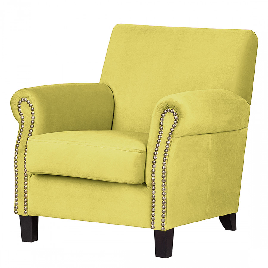 fauteuil bardi microfibre jaune moutarde. Black Bedroom Furniture Sets. Home Design Ideas