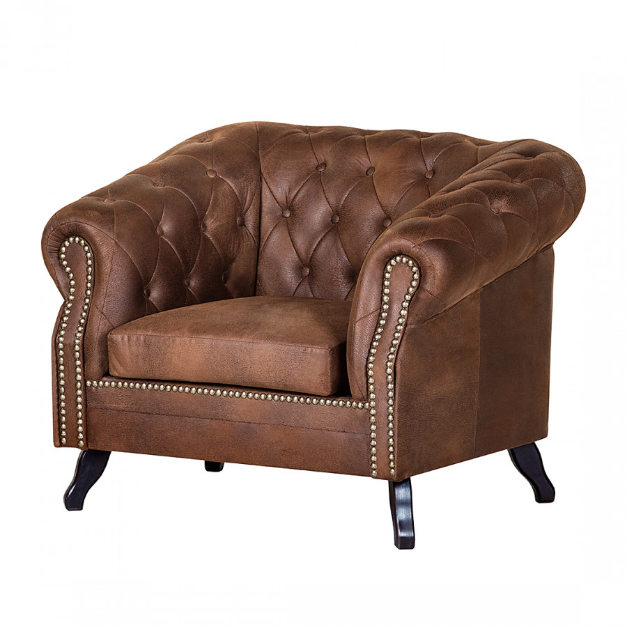 Maison belfort chesterfield sessel f r ein klassisches - Home 24 sessel ...