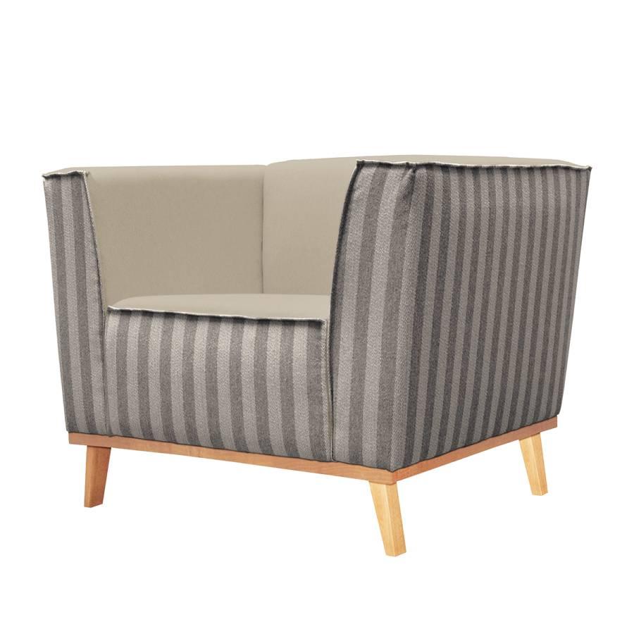sessel claudelle webstoff fischgr tmuster taupe. Black Bedroom Furniture Sets. Home Design Ideas