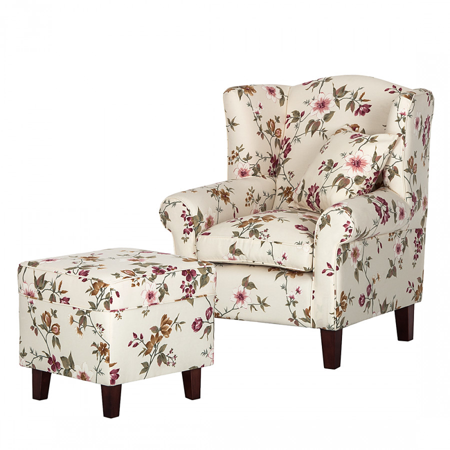 sessel colmar webstoff blume beige home24. Black Bedroom Furniture Sets. Home Design Ideas