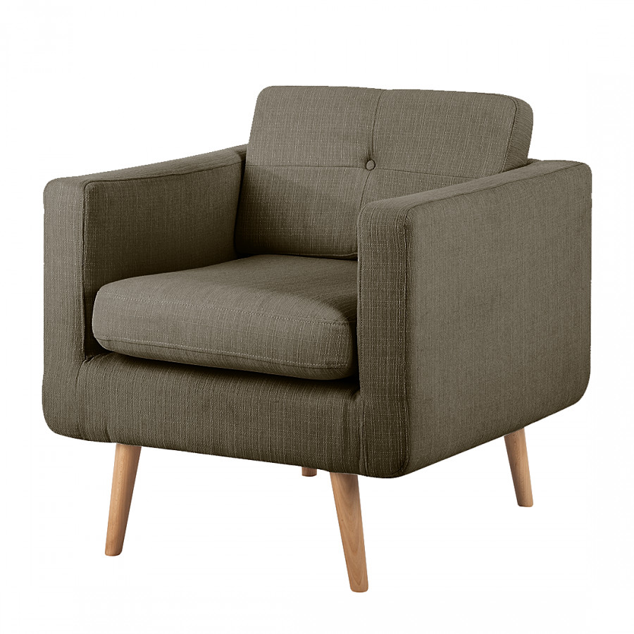 Fauteuil Croom - bruine geweven stof  home24.be