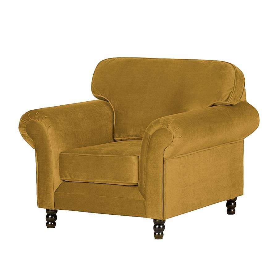 fauteuil dijon velours jaune moutarde. Black Bedroom Furniture Sets. Home Design Ideas