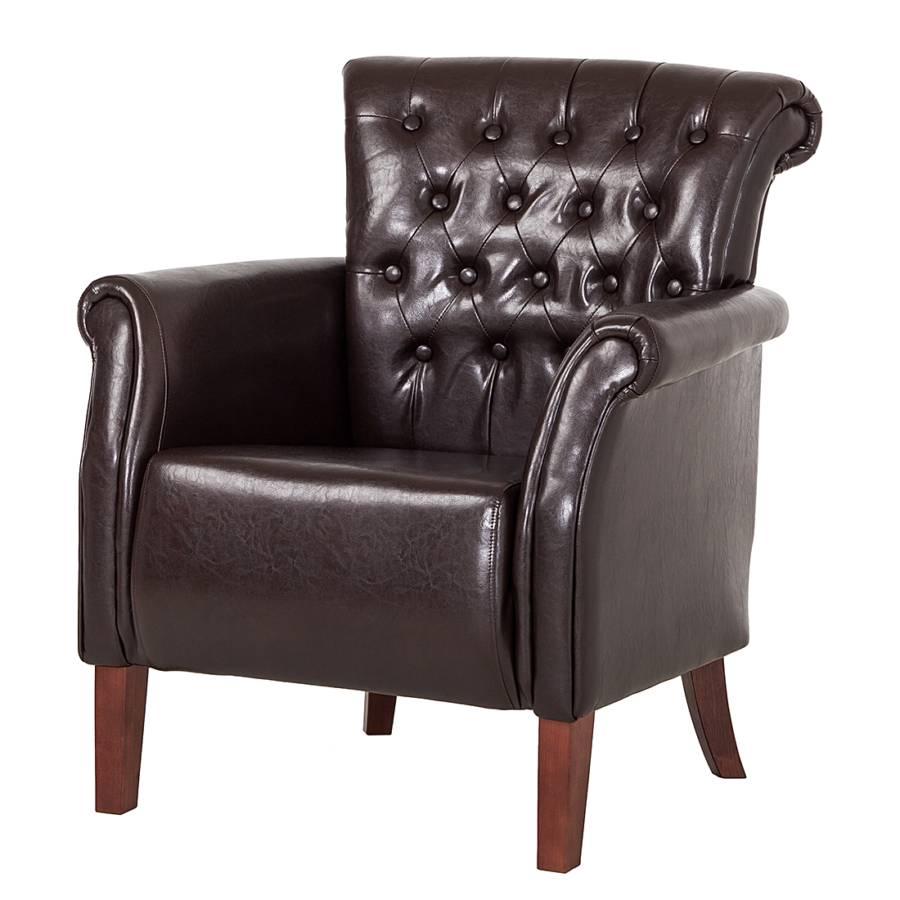 Einzelsessel braun  Kunstleder Sessel: Esszimmer sessel roper in braun aus kunstleder ...