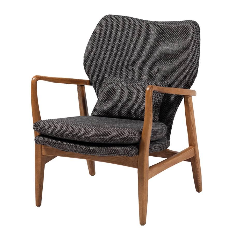 sessel infinity eiche webstoff grau. Black Bedroom Furniture Sets. Home Design Ideas