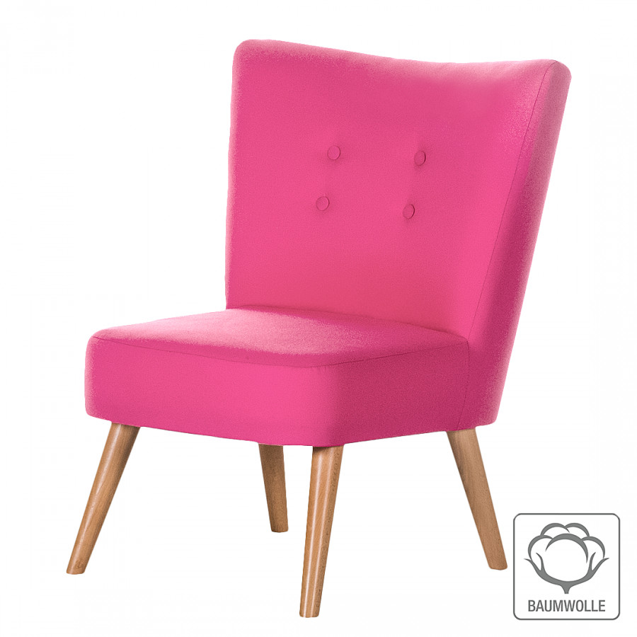 Sessel mikkel baumwollstoff pink home24 for Home 24 sessel