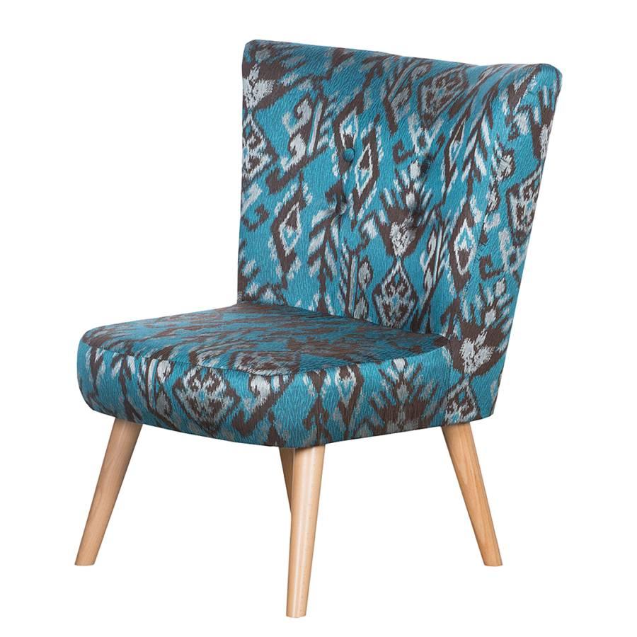 sessel mikkel ethno webstoff t rkis home24. Black Bedroom Furniture Sets. Home Design Ideas