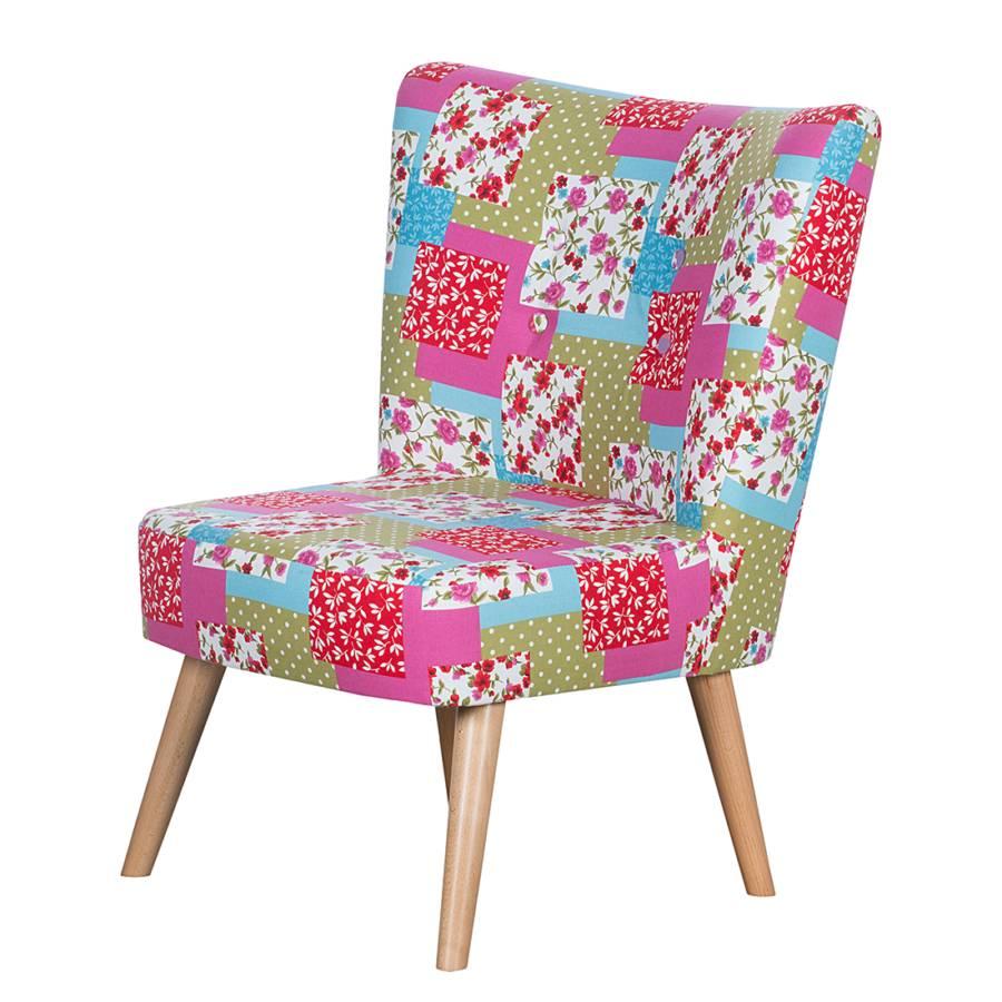 fauteuil mikkel patchwork tissu rose. Black Bedroom Furniture Sets. Home Design Ideas