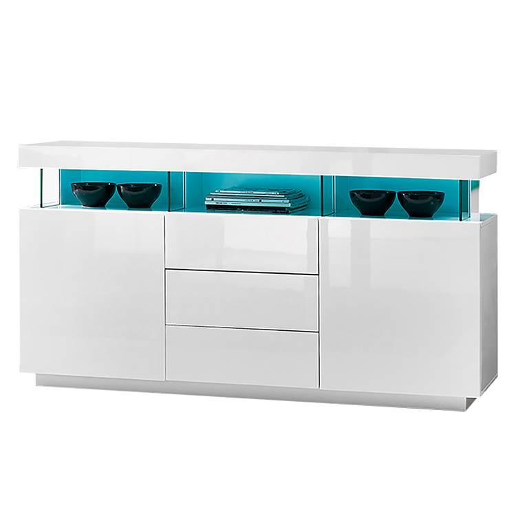 sideboard adriane inkl beleuchtung hochglanz wei. Black Bedroom Furniture Sets. Home Design Ideas