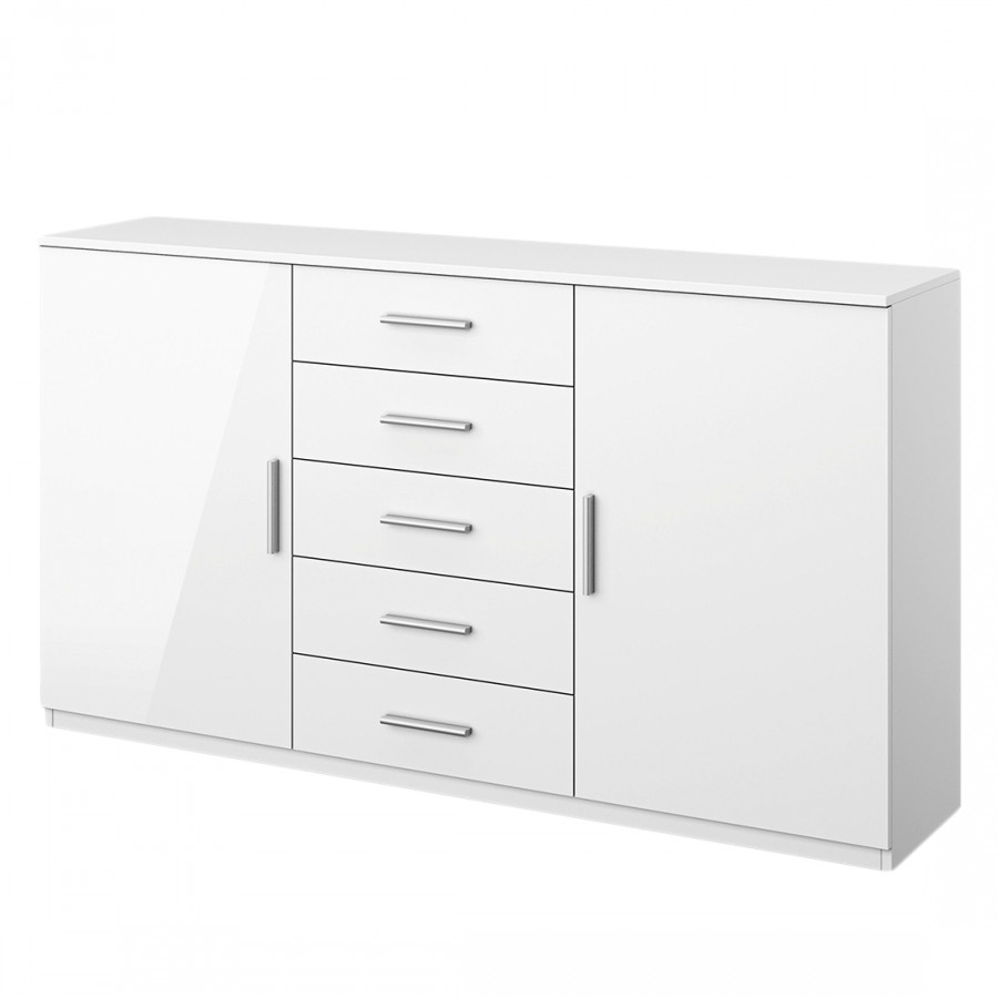 Sideboard celle i alpinwei hochglanz wei home24 for Lampen celle