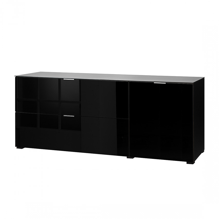 sideboard glas schwarz raum und m beldesign inspiration. Black Bedroom Furniture Sets. Home Design Ideas