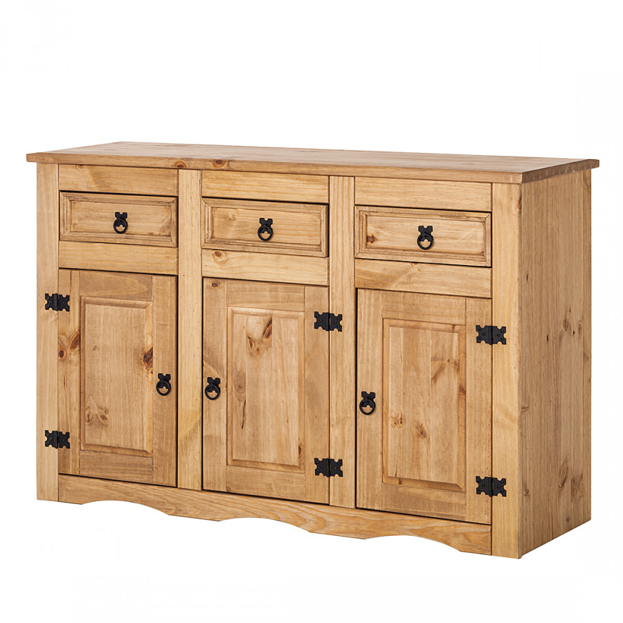 sideboard finca rustica kiefer massiv home24. Black Bedroom Furniture Sets. Home Design Ideas
