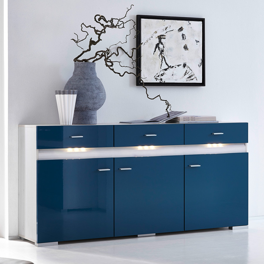 sideboard knoxville inklusive beleuchtung hochglanz. Black Bedroom Furniture Sets. Home Design Ideas