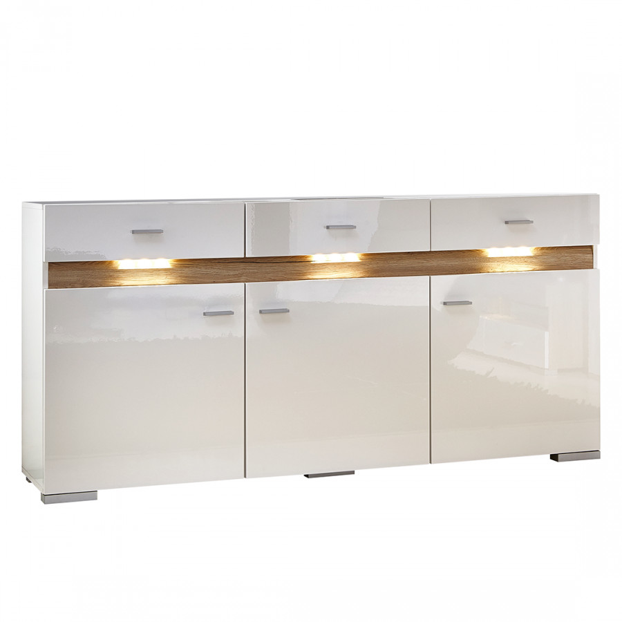 Sideboard knoxville inklusive beleuchtung home24 for Kommode yoga iv
