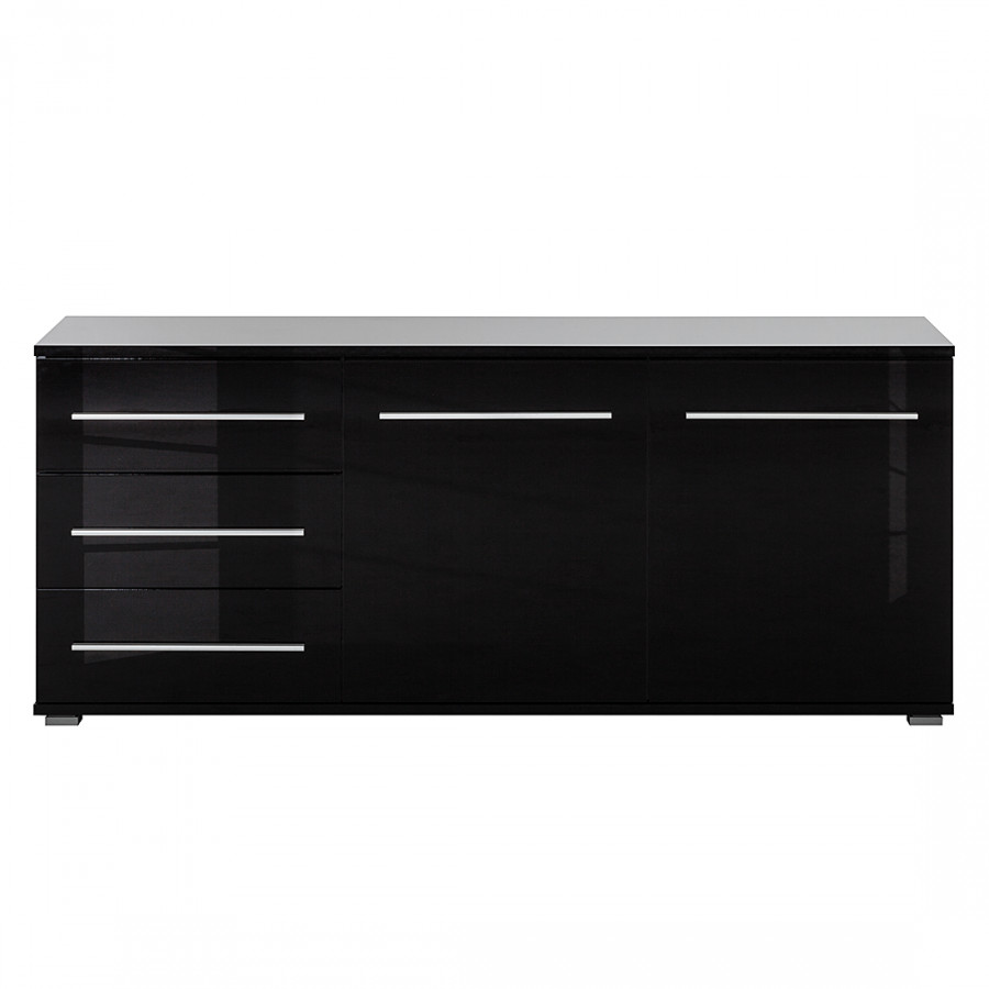 sideboard mert schwarz hochglanz home24. Black Bedroom Furniture Sets. Home Design Ideas