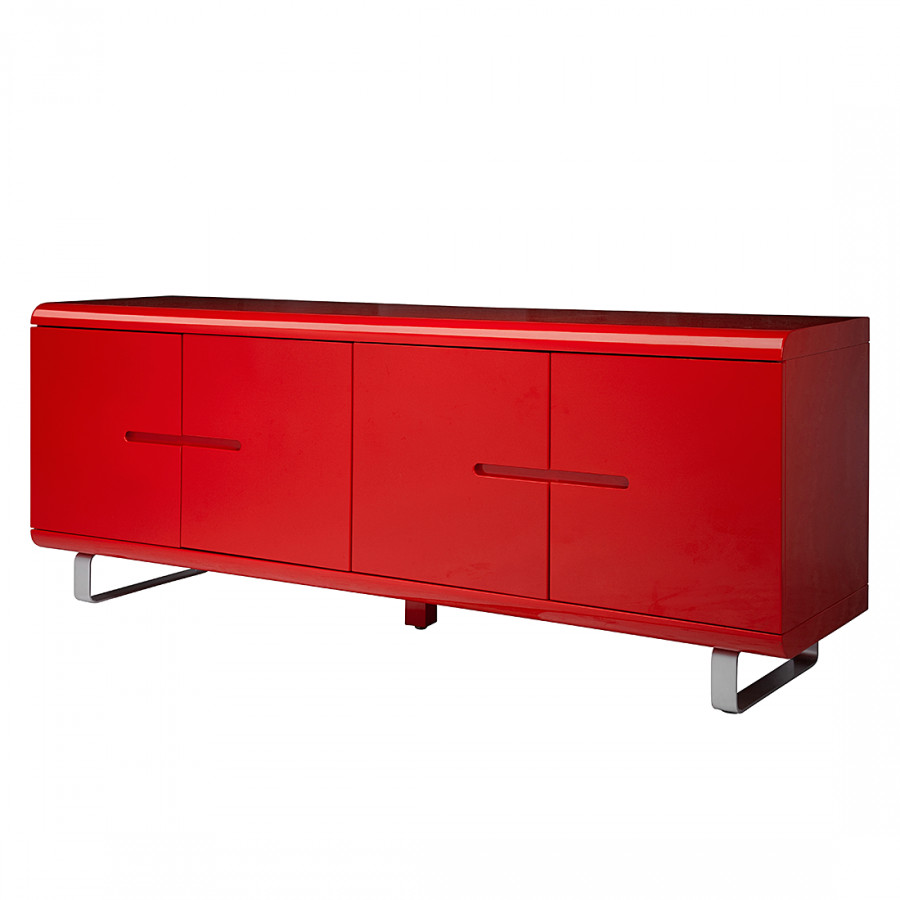 sideboard spacy i hochglanz rot. Black Bedroom Furniture Sets. Home Design Ideas