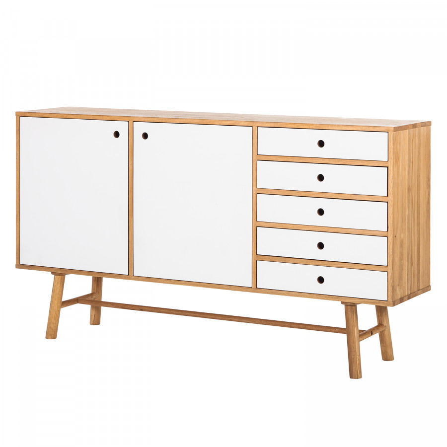 sideboard why wood ii von says who mit 5 schubladen und 2. Black Bedroom Furniture Sets. Home Design Ideas
