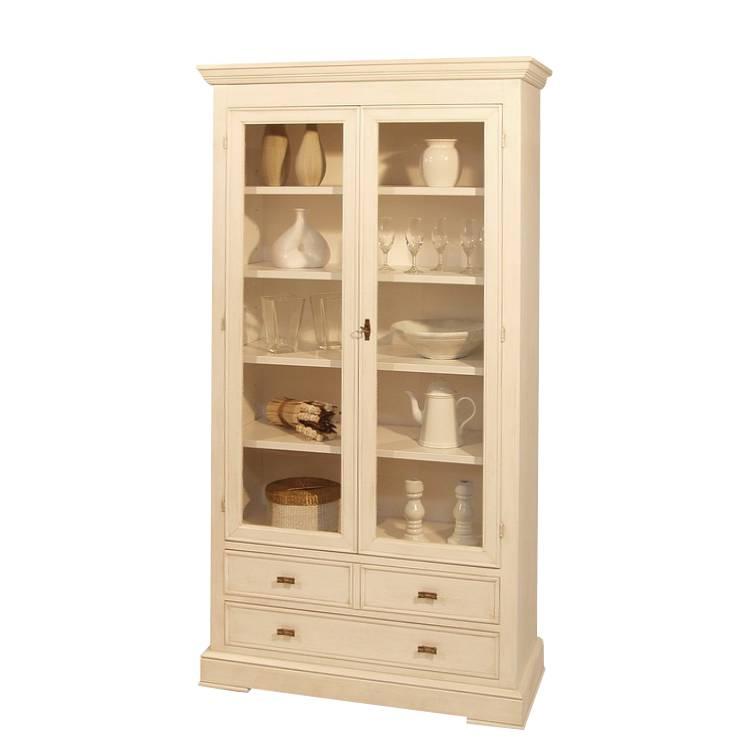siena vitrine wei lackiert antik patiniert home24. Black Bedroom Furniture Sets. Home Design Ideas