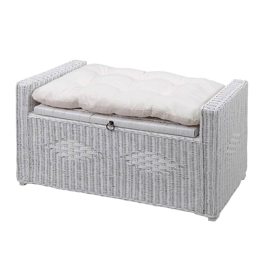 sitztruhe farma rattan wei home24. Black Bedroom Furniture Sets. Home Design Ideas