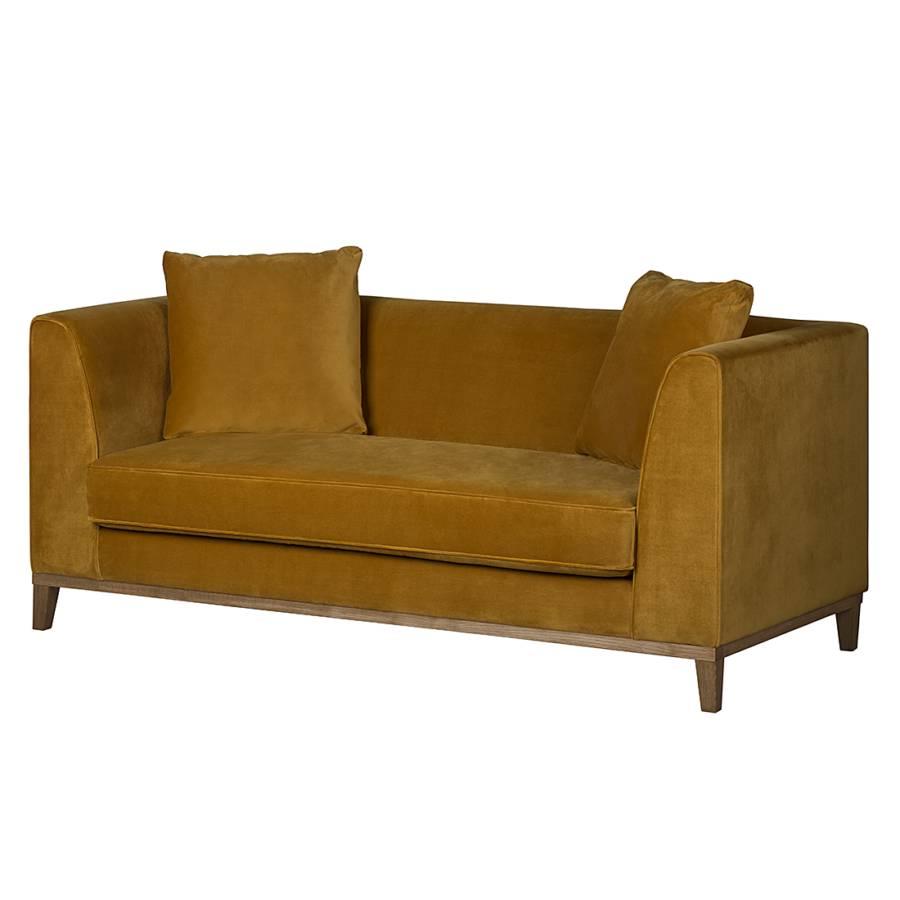 sofa blomma 2 sitzer samtstoff senfgelb home24. Black Bedroom Furniture Sets. Home Design Ideas