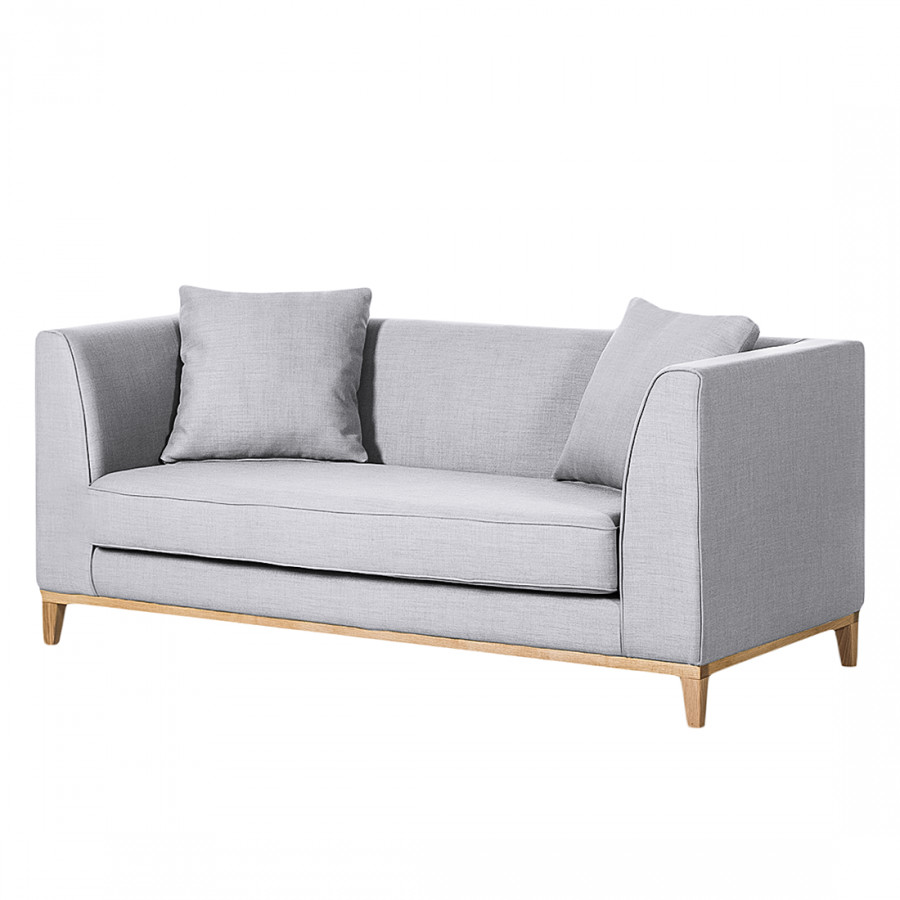 Sofa blomma 2 sitzer webstoff grau home24 for Couch federkern