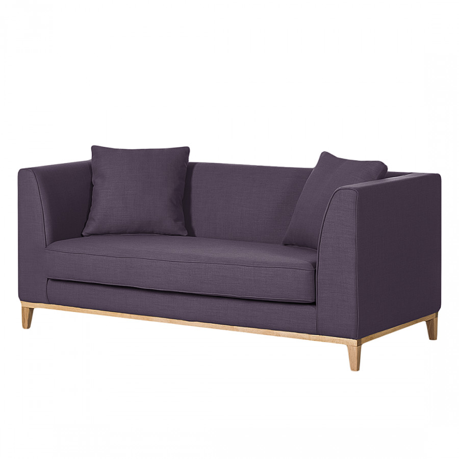 Canap blomma 2 places tissu violet for Lila jang s canape
