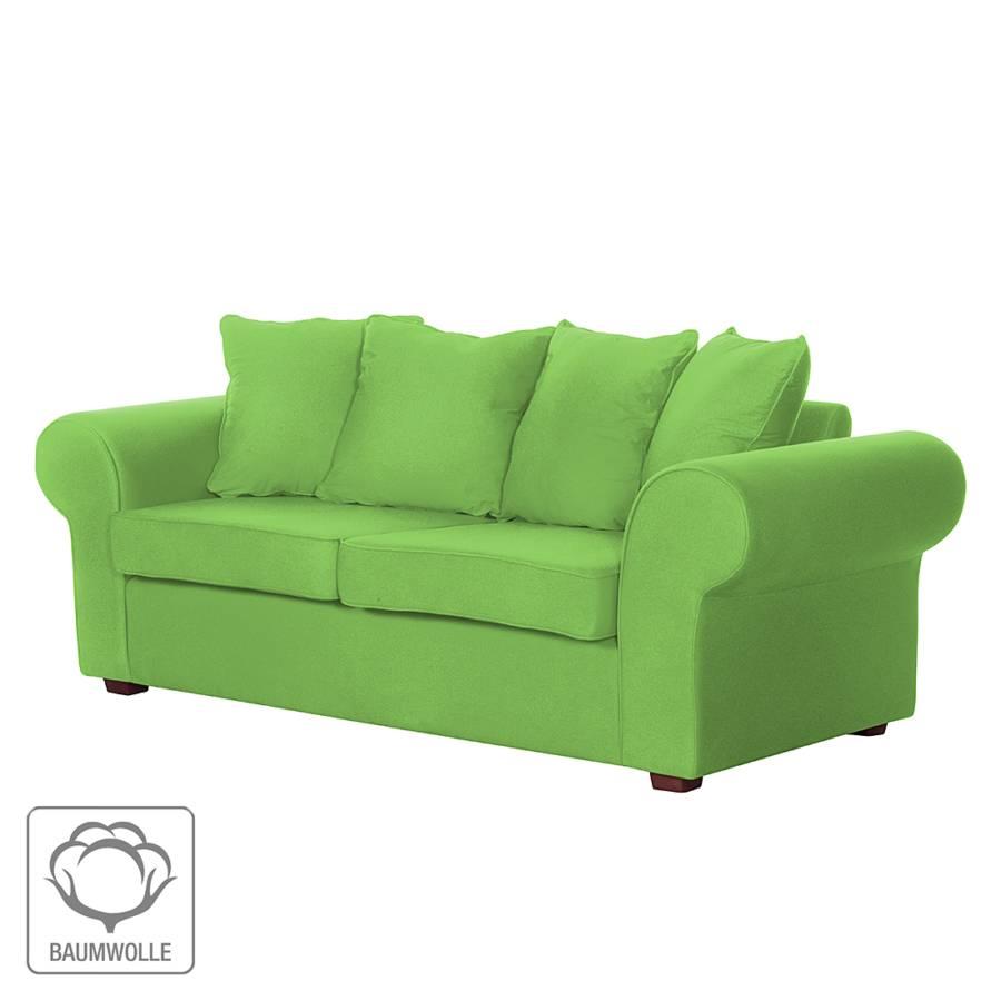 canap colmar 3 places tissu en coton vert. Black Bedroom Furniture Sets. Home Design Ideas