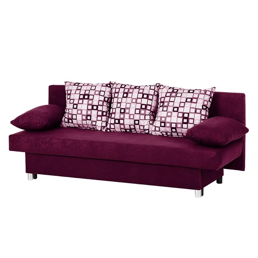 Canap convertible fashion microfibre violette for Lila jang s canape