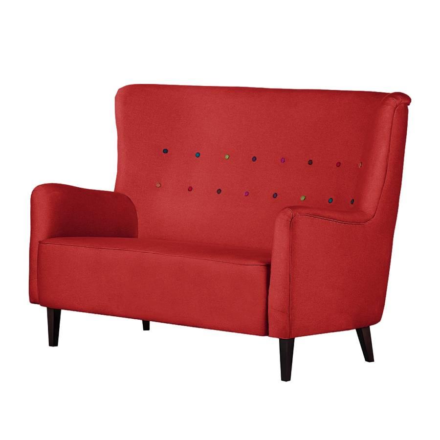 sofa josslyn mit rotem webstoff home24. Black Bedroom Furniture Sets. Home Design Ideas