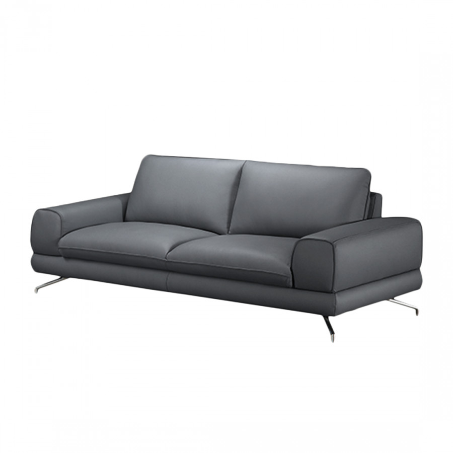 sofa lennard 2 5 sitzer kunstleder grau home24. Black Bedroom Furniture Sets. Home Design Ideas