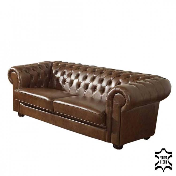 Canap lina cuir v ritable marron for Protection canape cuir