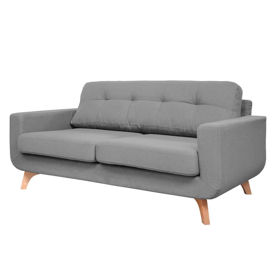 sofa marlene 2 sitzer webstoff hellgrau home24. Black Bedroom Furniture Sets. Home Design Ideas